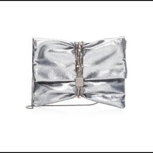Jimmy Choo Chandra Leather Belted Clutch